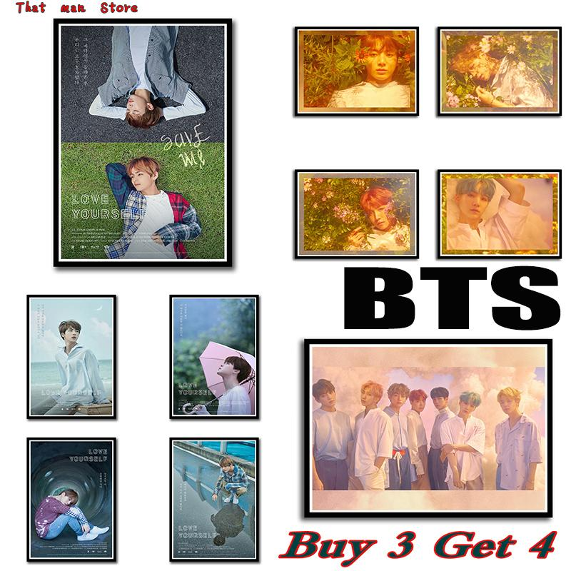Bts posters love yourself kpop music wall stickers high definition bts posters love yourself kpop music wall stickers high definition home decoration home art 4230cm no frame tree wall decor stickers tree wall mural decal solutioingenieria Gallery