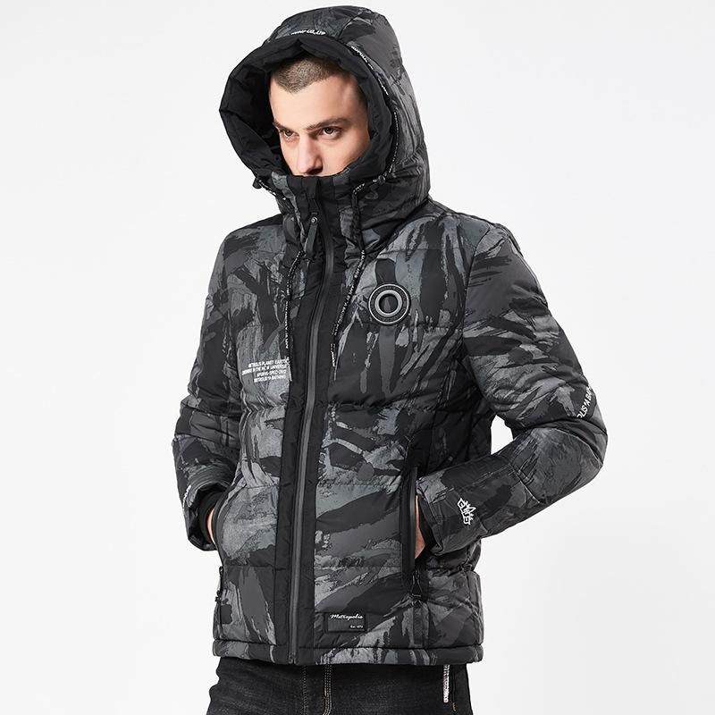 9ede59ff2 Camouflage Winter Parkas Men Warm Jackets Camo Coat Hooded Jacket Mens  Winter Coat 2018 Fashion Parkas for Men S149
