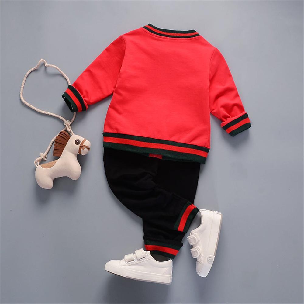 Outono New Baby Boy Conjuntos de Roupas Crianças Roupas Hoodies Cow Devil Listrado Casacos Casacos + Colete + Calças Pequenas Crianças Roupas Ternos