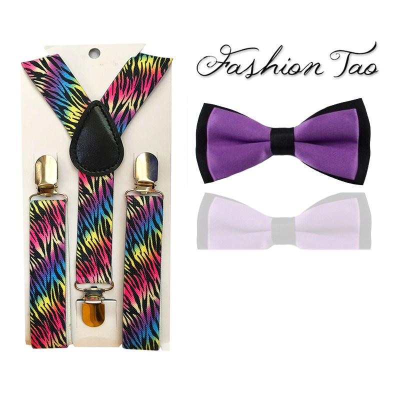 af4e6afc44f1 Kid Suspenders Boys Butterfly Bowtie Bow Tie Set Matching Colors ...