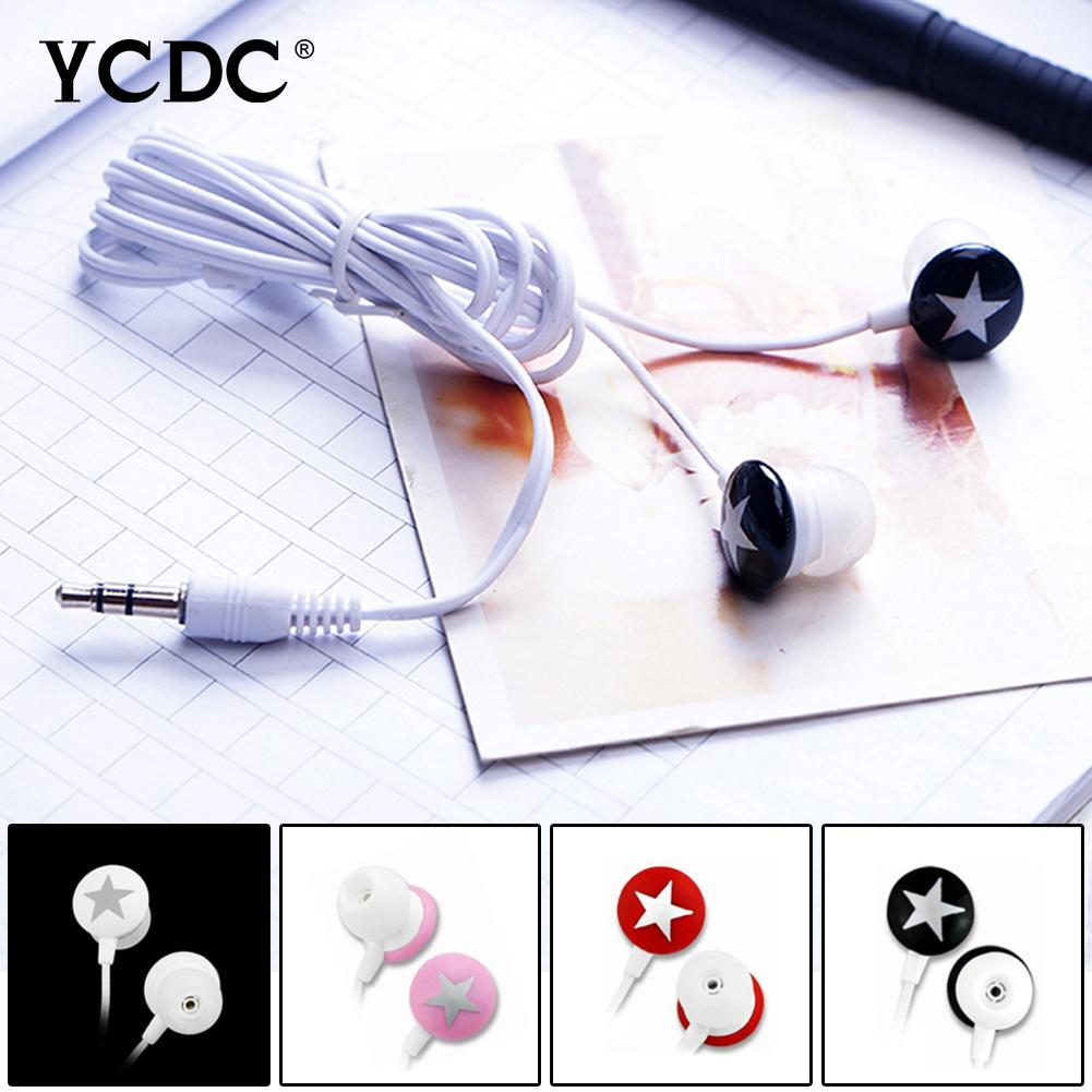 Cheap YCDC Rainbow Color Cute Star 3 5mm In-ear Headset Earphone Earbud For  iPhone Xiaomi HTC Samsung MP3 MP4 PC 69%off