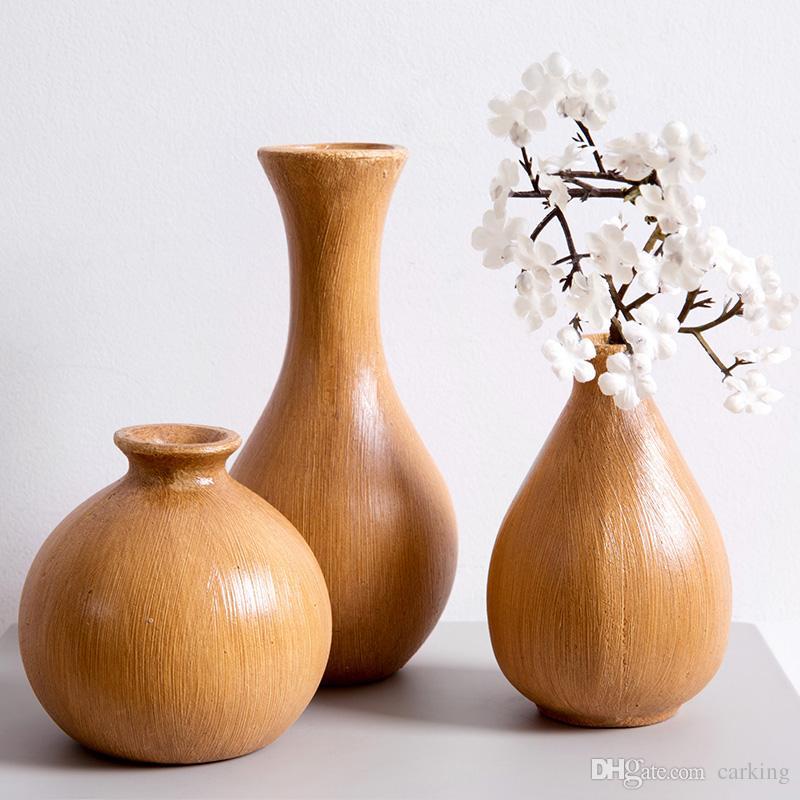 Große Holz Blumenvase Wohnzimmer Traditionelle Holz Blumenvase Retro Vase  Blume Pergola