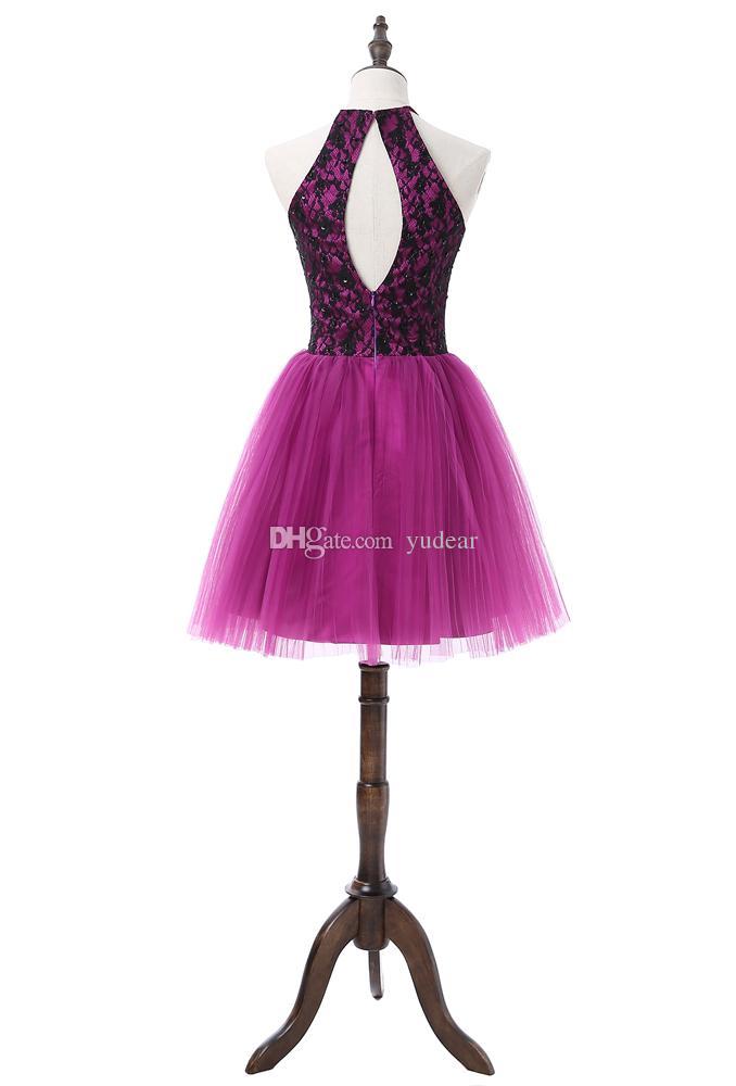 Elegantes joyas para mujer Vestidos de regreso a casa Una línea de lentejuelas brillantes Vestidos con espalda hueca para cóctel Vestidos de baile pequeños Vestidos de dama