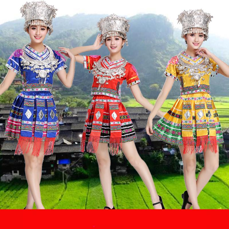 Classical traditional chinese dance costumes for women miao hmong clothes traditional dai costume china national clothing