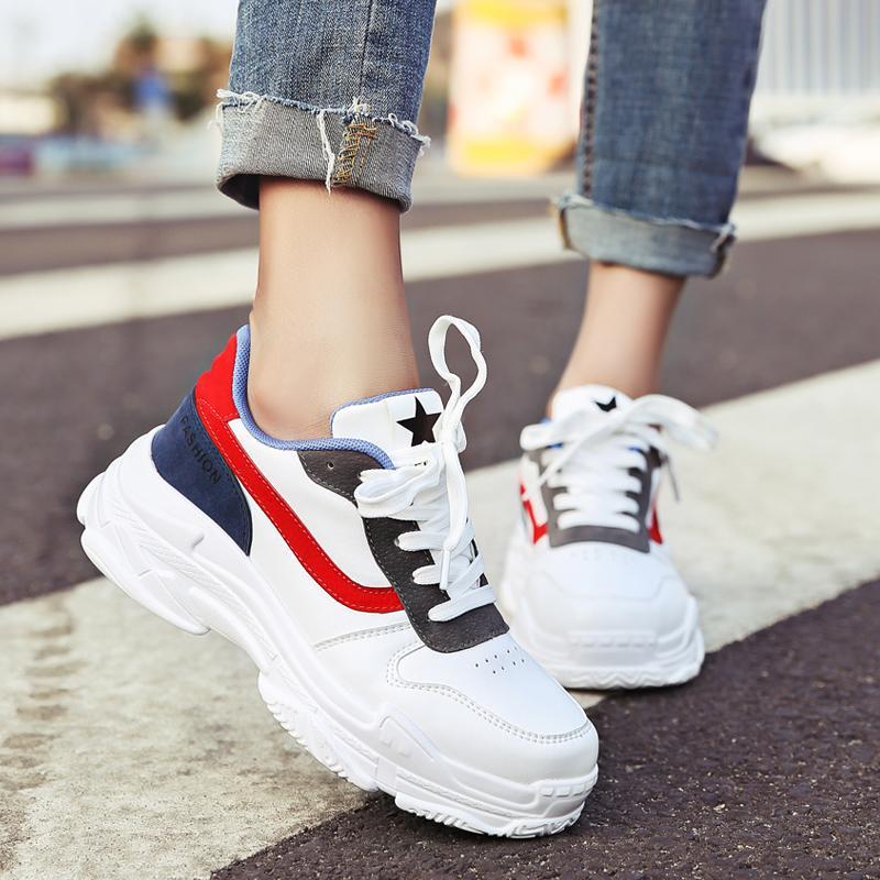 b57c245b81 Compre Aumento De Altura Zapatos Para Correr Atlético Mujer Diseñador De La  Marca De Lujo Zapatillas De Deporte Suela Gruesa Calzado De Goma Calzado ...