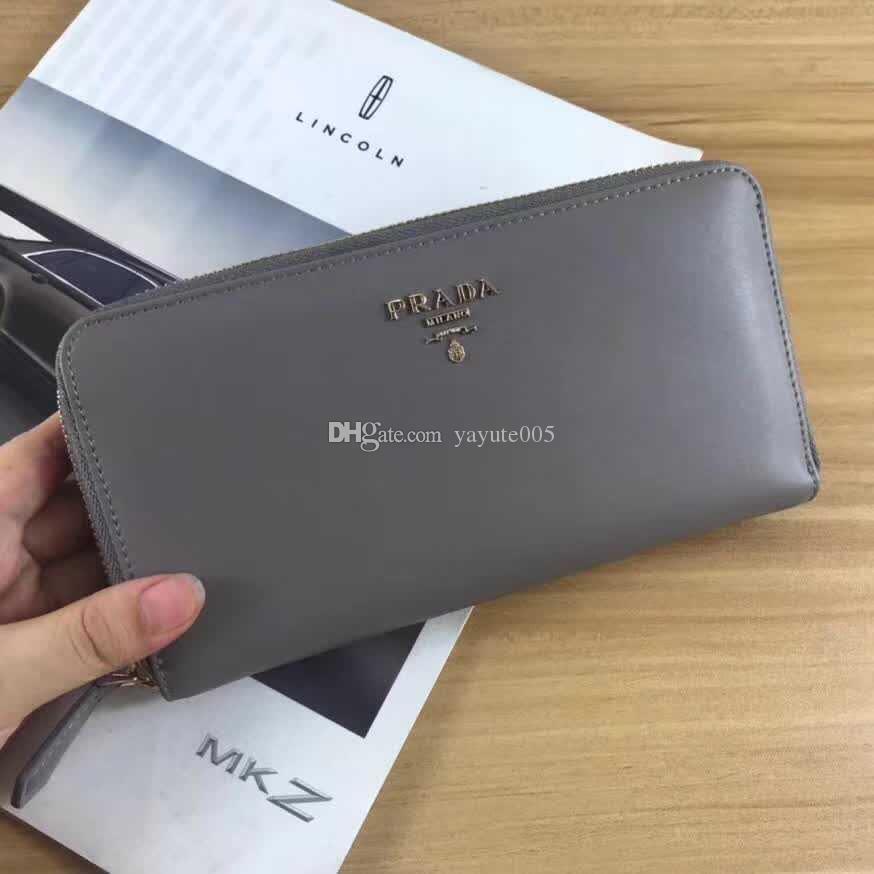 32b39d4654f2 2018 Luxus berühmte Marke Mode Brieftasche einzigen Reißverschluss billige  Luxus Designer Frauen Männer aus echtem Leder Brieftasche Dame Damen ...