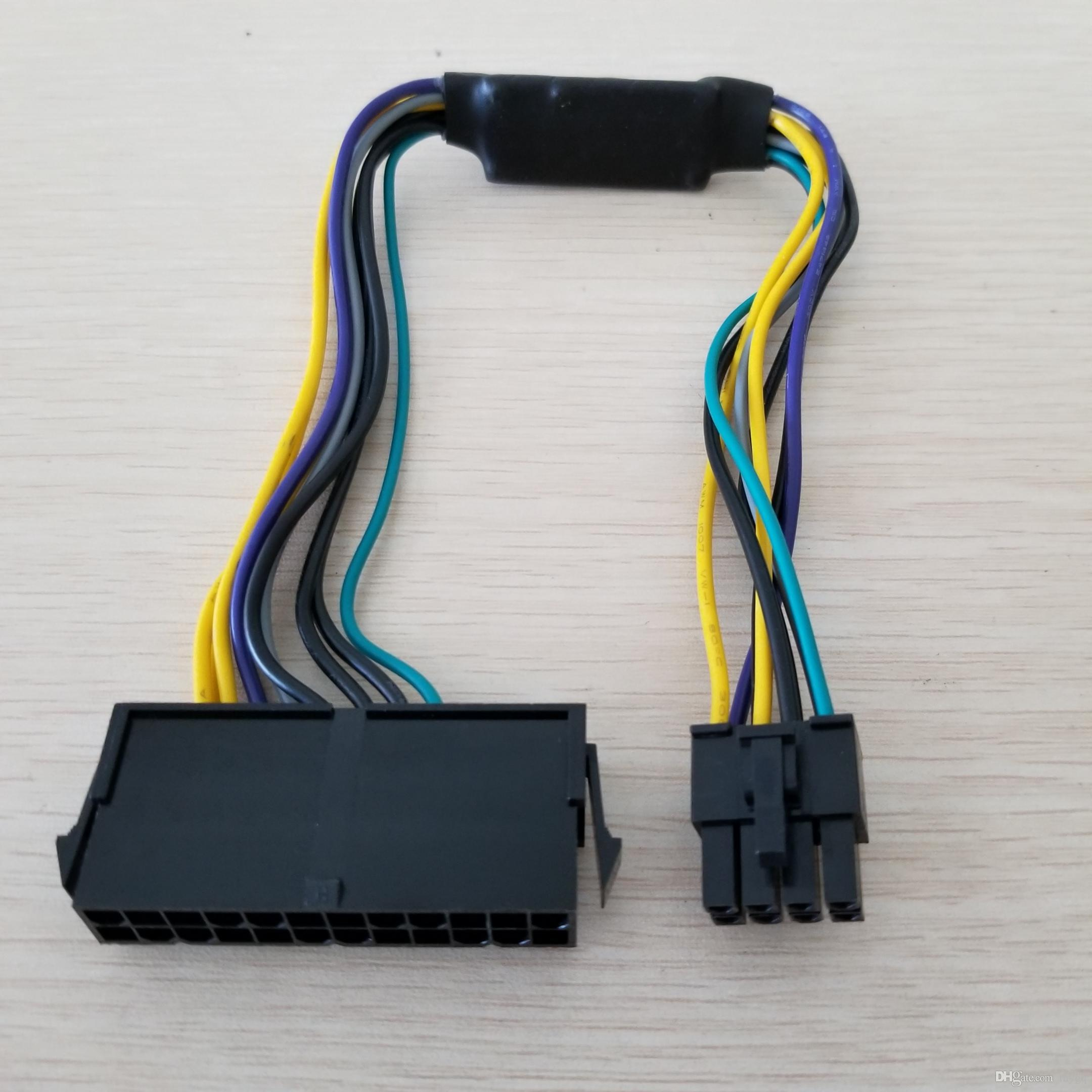 Dell 24 Pin Power Supply Wiring Diagram Electrical Atx 24pin Female To Motherboard 8pin Male For Optiplex 3020 Plug