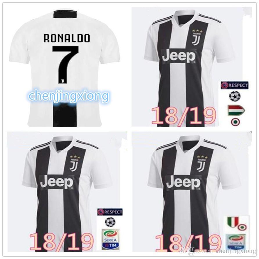 63b098879 2019 Thailand RONALDO Juventus 2019 Soccer Jersey DYBALA 18 19 Football Kit  Shirt Top Fans Player Version Men Women Kids Champion League Serie A From  ...