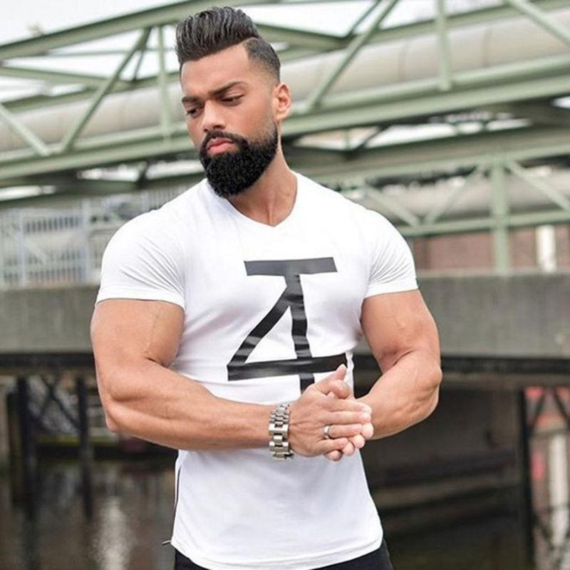 1ed1d67bcf3 Brand Men S T Shirt Fitness And Bodybuilding Short Sleeve T Shirts Fashion  Leisure Muscle Men Slim Fit Personality Tees Tops T Shirt Purchase Tee Shirt  A ...