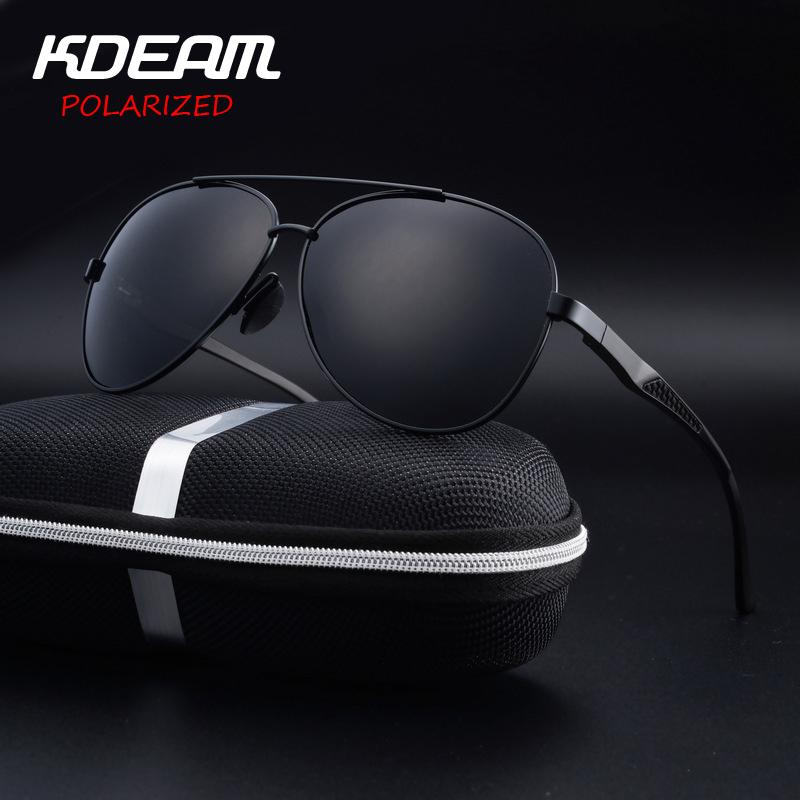 Купить Оптом Kdeam Eyewear Высокое Качество Мужские Солнцезащитные Очки  Pilot Hd Поляризованные Зеркальные Линзы Сплав Из Сплава 6 Цветов Женщины  Oculos De ... f4072be1437