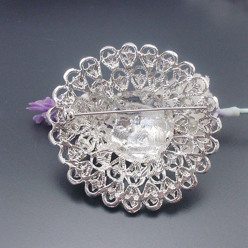 Perakende Yuvarlak Güzel Çok renkler Kristal Rhinestone Çiçek Pin Broş, Ürün No .: BH7544