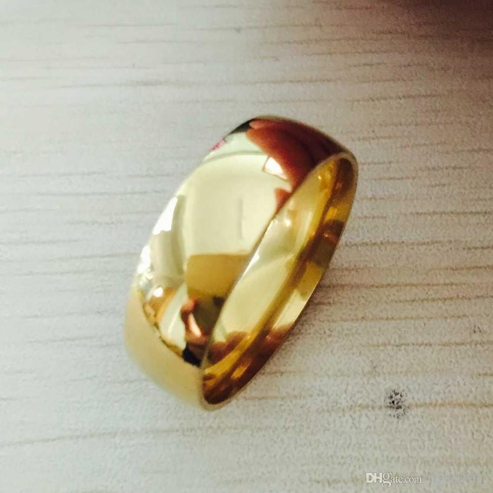 recycled men dome wide yellow gold ring low bands band wedding pin s