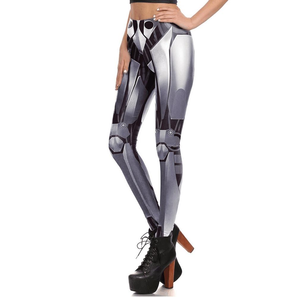 9ff7191d587d55 2019 2018 New Women S Pants Iron And Steel Robot 3D Printing Pattern Woman  Legings Sexi Women Legging Flower Printed Plus Size S XL From Cailey