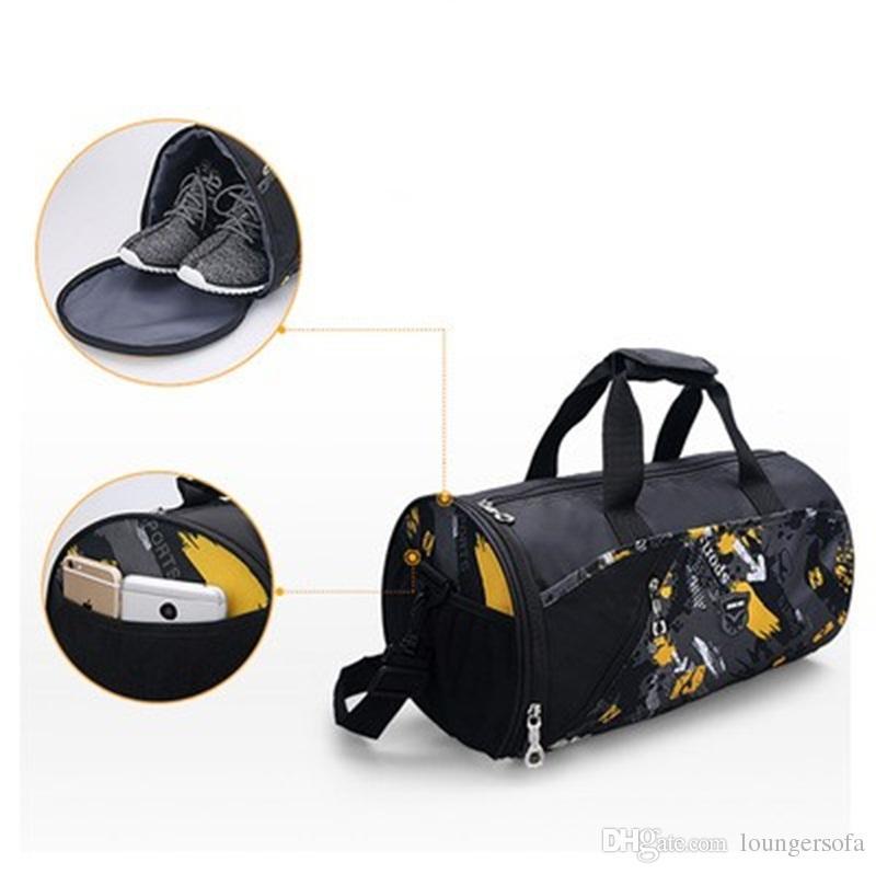 9ec478d43ca2 2019 Sports Gym Bag Women Men Fitness Bags Yoga Waterproof Nylon Sport Bag  Travel Training Shoulder Luggage Duffle Shoes 25fb Dd From Loungersofa