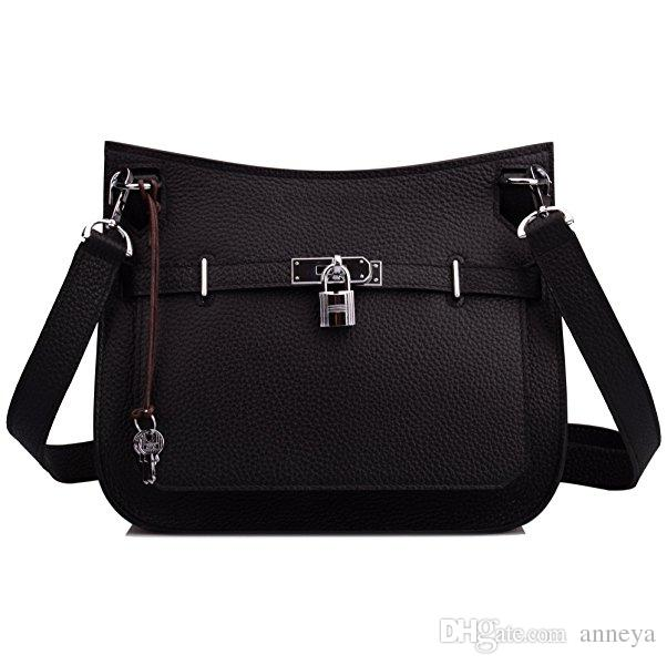 cc6f3c5e1d72 Women's Padlock Genuine Leather Messenger Bag leather padlock handbag cross  body purses fashion bags for women