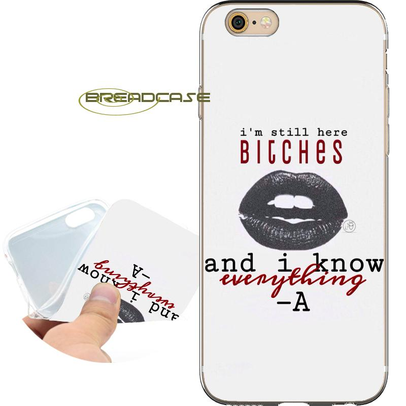 best website f7929 cbca2 PLL Pretty Little Liar Shell Cases for iPhone 10 X 7 8 6S 6 Plus 5S 5 SE 5C  4S 4 iPod Touch 6 5 Clear Soft TPU Silicone Cover.