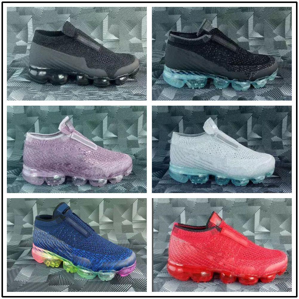 the latest 2c11f f0e5f Compre Nike Air Max Airmax Vapormax Laceless Vapor 2018 Platinum Infantil  Sneaker Crianças Tênis De Corrida Cinza Branco Arco Íris Crianças Calçados  ...