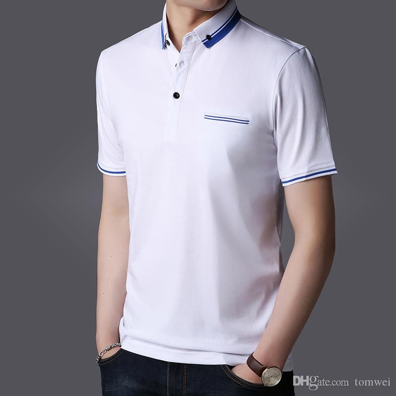 2019 Casual T Shirts Polos Work T Shirts Summer Tees Tops Brand Mens