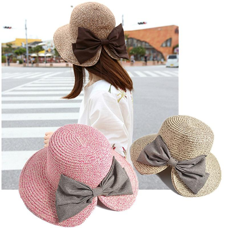 fc3b3a88ede New Cute Design Bow Straw Hat Femal Elegant Magnificent Split Straw Hat Sun  Women Vintage Summer Anti Uv Sunhat Men Hats Baby Sun Hat From Wutiamou