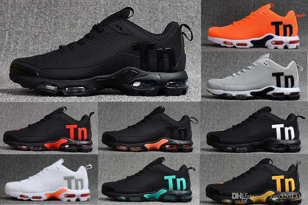 KPU Mercurial Plus Tn 2018 Mens Tn SE Black White Orange Desinger Running  Shoes Men Trainers Sports Sneakers Size 40 46 Running Shoes For Men Running  Shoes ... bc2a0e9f7