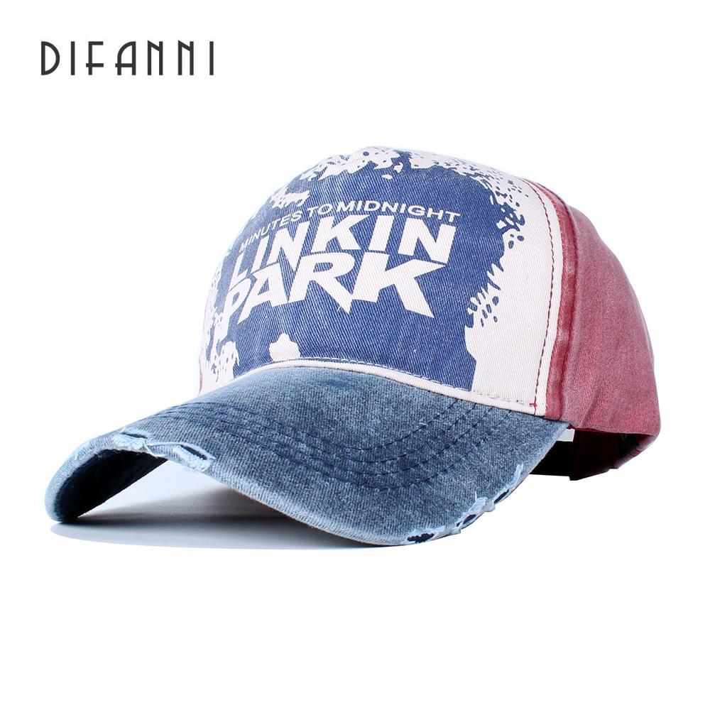 Difanni Casual Letter LINKIN PARK Cap Adjustable Cotton Hat Solid Snapback  Outdoor Sports Gorras Hip Hop Men Women Baseball Cap Cap Online Starter Cap  From ... 2fe92bb605c