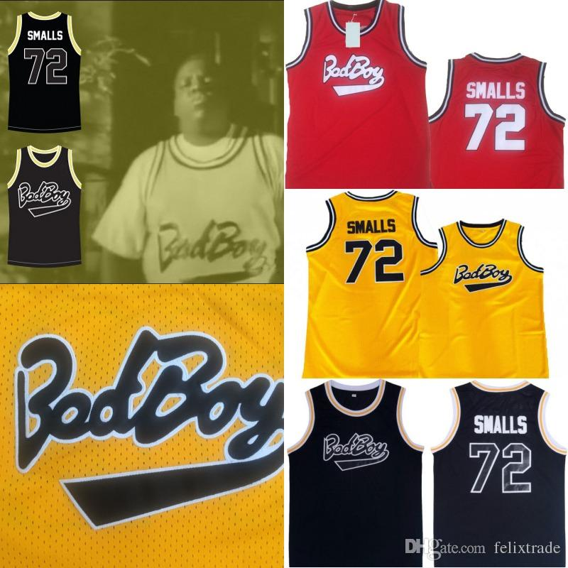 1fdff8084 2019 Biggie Smalls Bad Boy  72 Notorious B.I.G. Basketball Jersey Red Yellow  Black Stiched Name And Number IN STOCK From Felixtrade