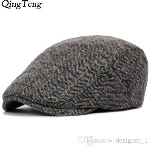 596b72fa321 Men Berets Herringbone Gatsby Tweed Cap Newsboy Male Beret Peaky Blinders  Hat Spring Women Flat Beret Hats UK 2019 From Designer 1