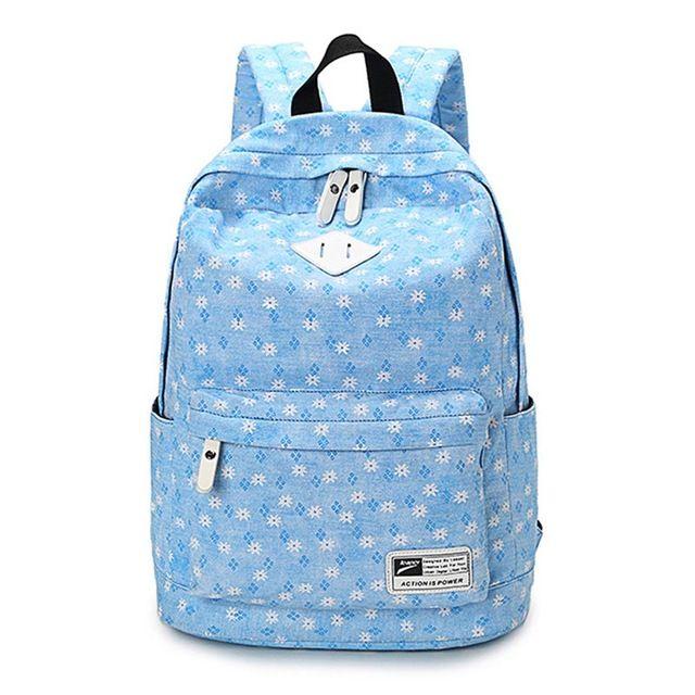 36c10c04eb8e 2018 Canvas Women Backpacks School Bags For Teenagers Girls Bolsas  Femininas Printing Laptop Travel Bags Middle School Students Designer Backpacks  College ...