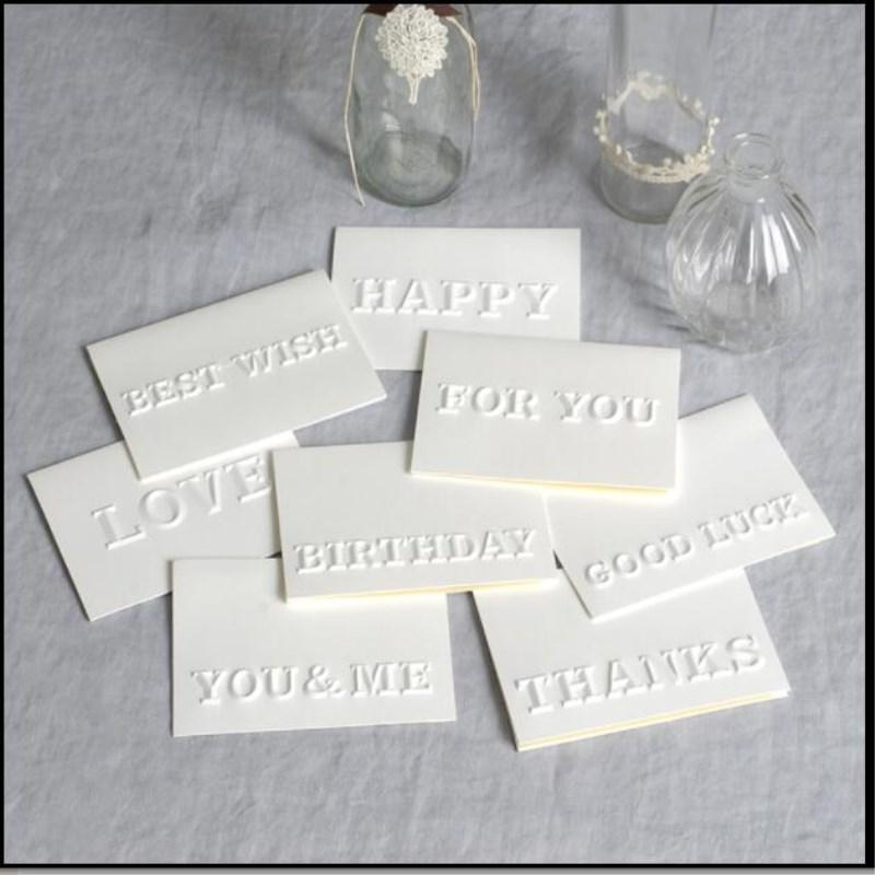 Creative Relief Little Greeting Card Birthday Table White Mini Gift Small Letter Online Cards Free