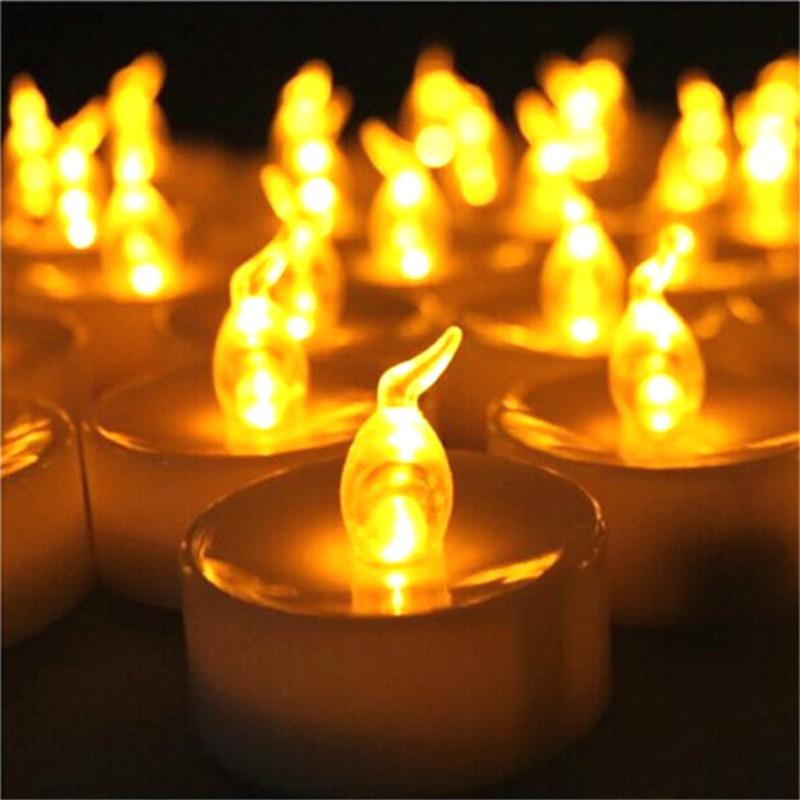 24 Pieces Flameless Led Candle Artificial Mini Light Flicker Candles Battery Powered Glow Party Supplies
