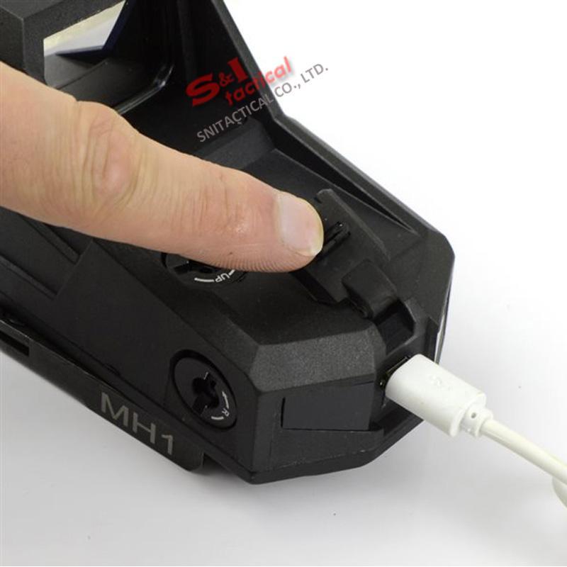 التكتيكية هارتمان MH1 ريد دوت البصر ريفلكس أكبر مجال الميداني مع فصل سريع وشاحن USB للصيد الهواء لينة أسود