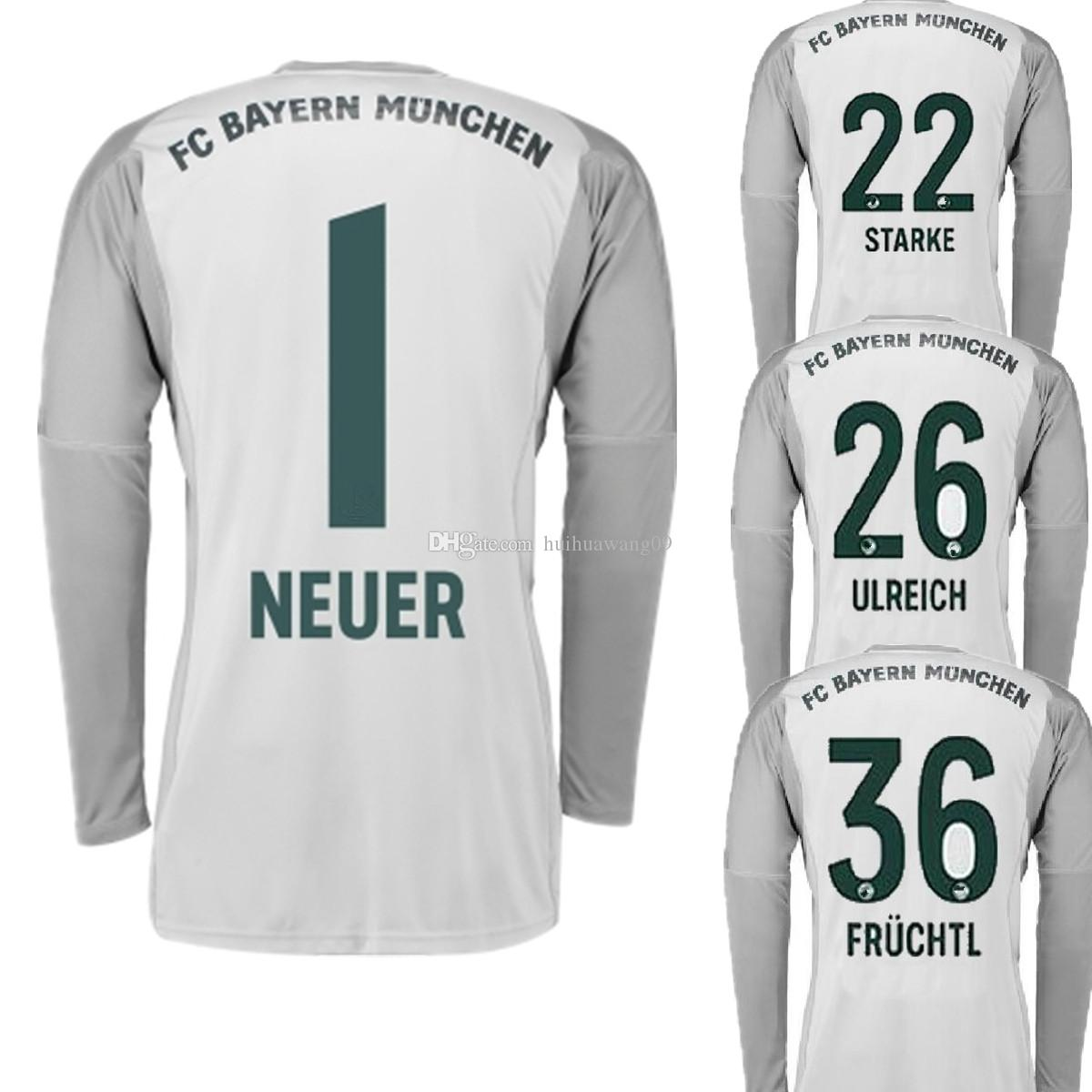 b377e5b80 ... closeout inexpensive 2018 2018 2019 long neuer home goalkeeper jerseys  gery soccer jersey 1 manuel neuer