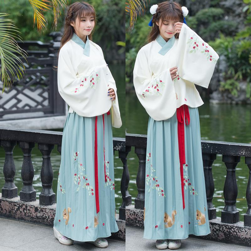 0f2a1dbc2 2019 Hanfu Chinese Ancient Dress Linen Printing Fairy Tang Song Ming  Dynasty Cosplay Chinese Dance Costumes Folk Dance Wear From Donahua,  $117.69 | DHgate.