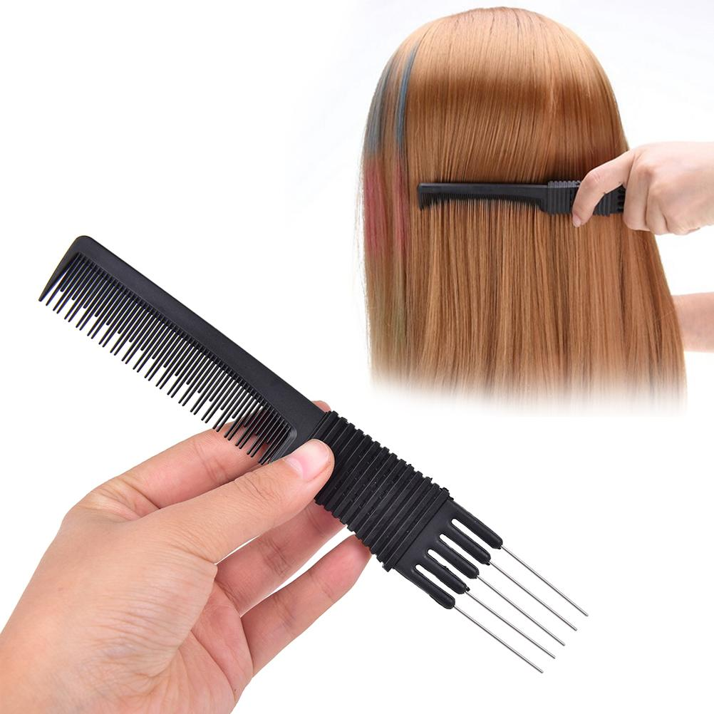 Plastic Metal Double Ends 2 In 1 Hair Color Combs Hair Dye Coloring Brushes Comb Barber Salon Tint Hairdressing Styling Tools