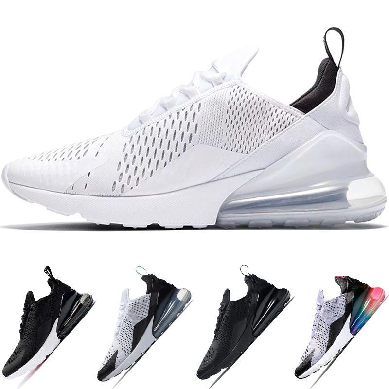 5cb6d5ab00e7f Cheap 270 Running Shoes Mens Women BE TRUE Oreo Triple White Black ...