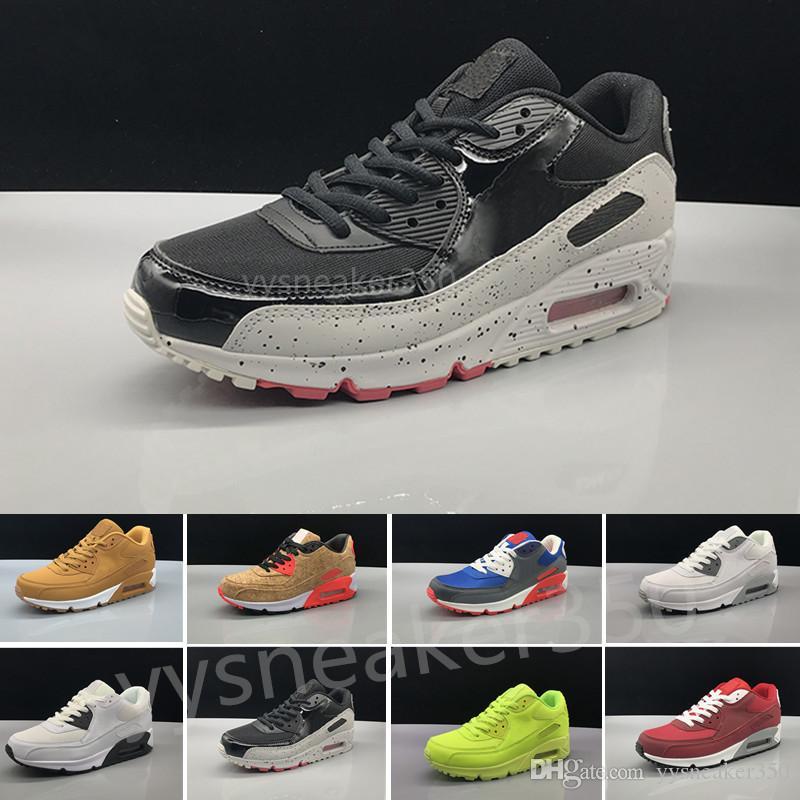 e7a4a96a290c Acquista Nike Air Max 90 Airmax Nuovi Uomini Donna Scarpe Classiche 90  Uomini E Donne Scarpe Da Corsa Nero Rosso Bianco Sport Trainer Aria Cuscini  ...