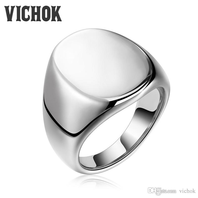 Simple 316l Stainless Steel Band Ring Silver Color Wedding Bands