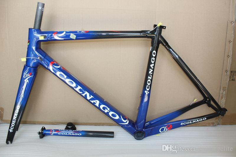carbon frame carbon bicycle frameset road bike Frame bicycle Blue glossy framset high quality