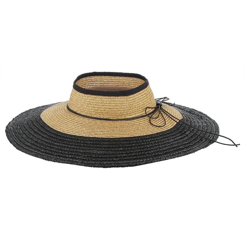 b2782fe9895 Breathable Summer Sun Hats For Women Wide Brim Straw Hat Hollow Out Empty  Top Hat Contrast Color Beach Visor Cap Sun Hats Cheap Sun Hats Breathable  Summer ...