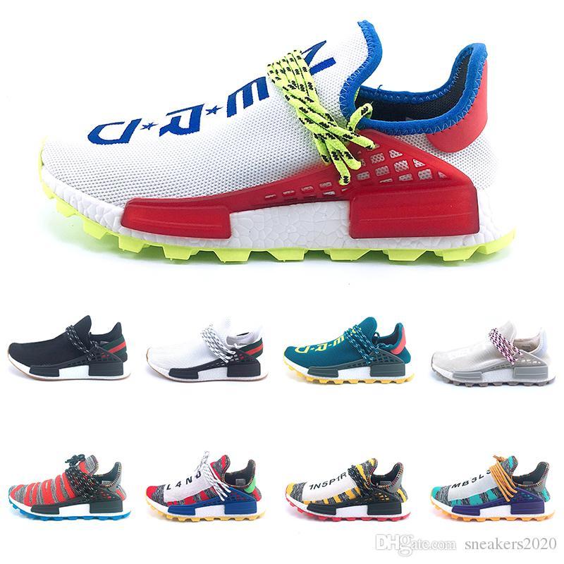 99f669ec4 Compre Designer Humano Trilha De Corrida Solar Afro Pack Tênis De Corrida  Das Mulheres Dos Homens Do Nerd Pharrell Williams HU SOLARHU Treinador  Sneaker ...