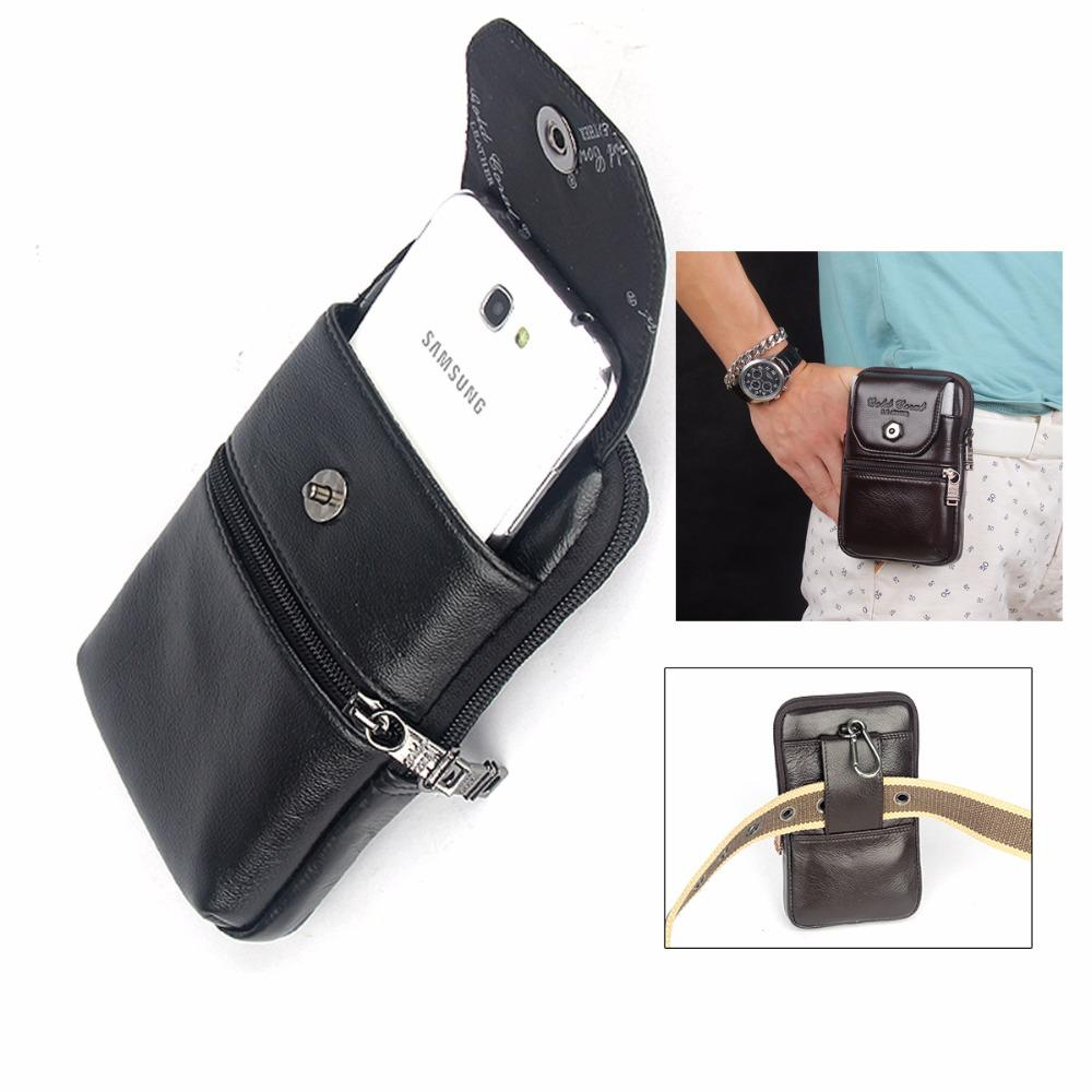 c9eefeb781 Zipper Wallet Genuine Leather Carry Belt Clip Pouch Waist Purse Case Cover  For Blackview BV6800 Pro Cell Phone Mini Bags Waterproof Cell Phone Cases  Wallet ...