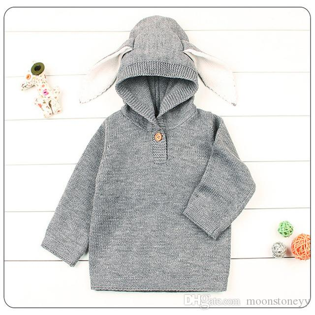 8a782a3a645b Rabbit Cartoon Winter Sweater For Baby Girls Cardigan With Ears ...