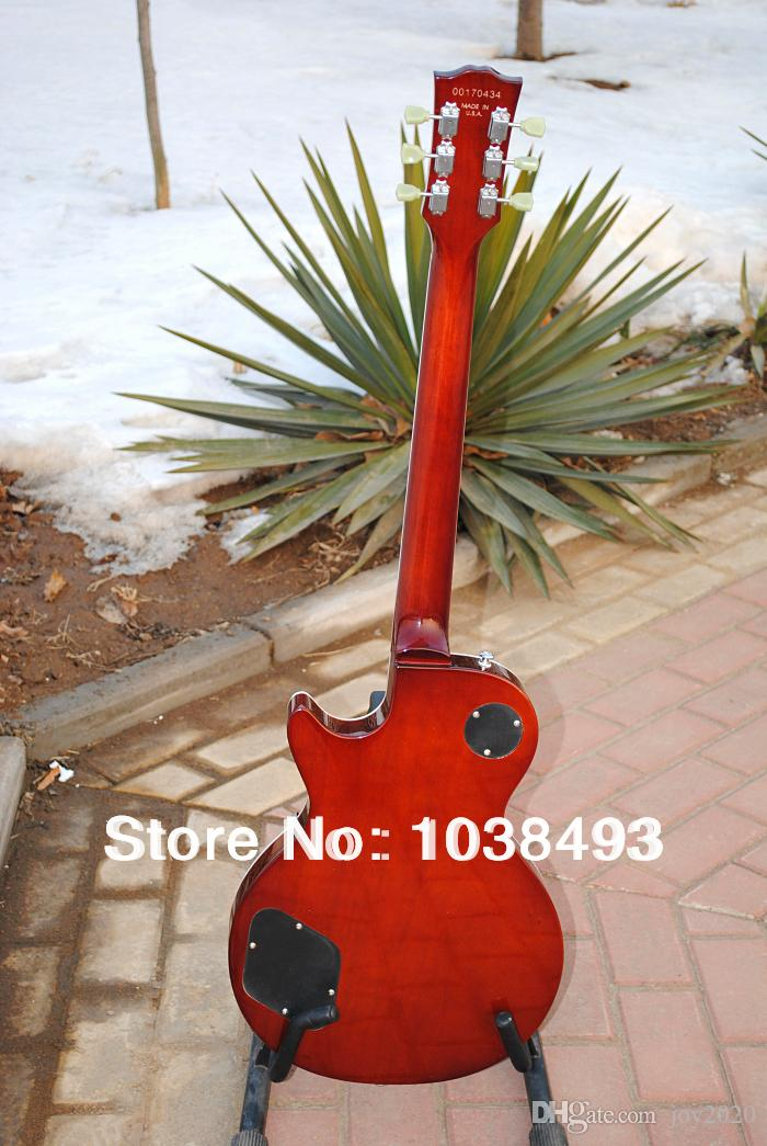 Manufacturer to manufacture the best quality electric guitar tiger stripes LP can be customized EMS with hard case