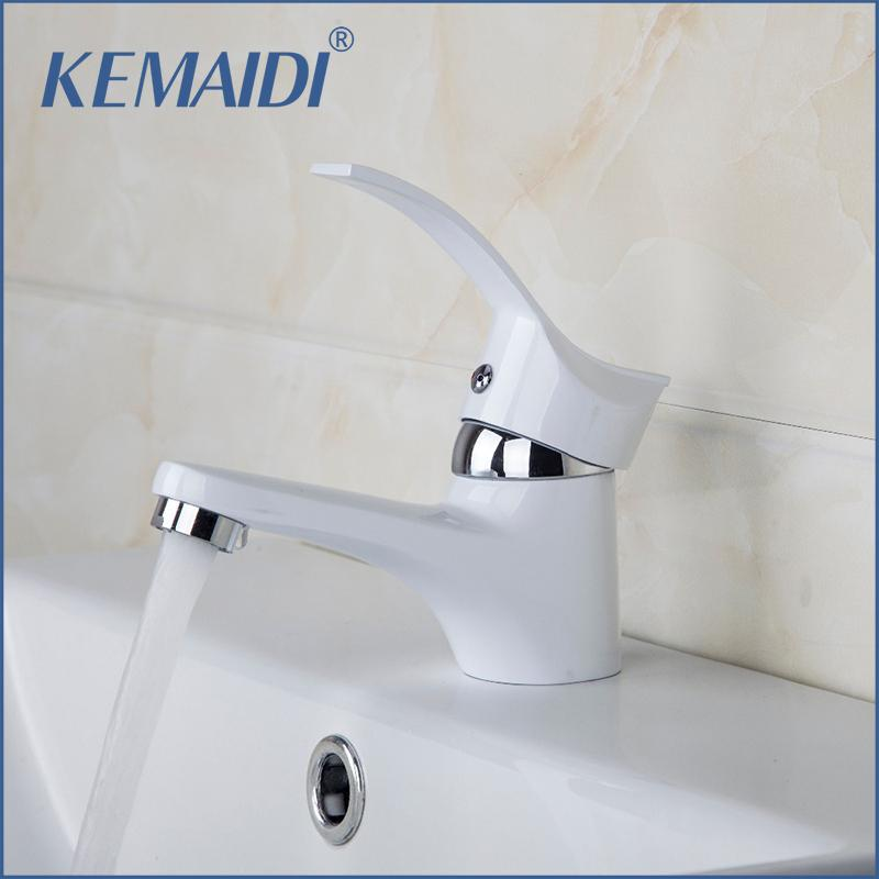 2018 Kemaidi Special White Painting Bathroom Sinks Tap Deck Mounted on home bathroom fixtures, painting bathroom fixtures, architecture bathroom fixtures, woman bathroom fixtures, diy bathroom fixtures, light bathroom fixtures,