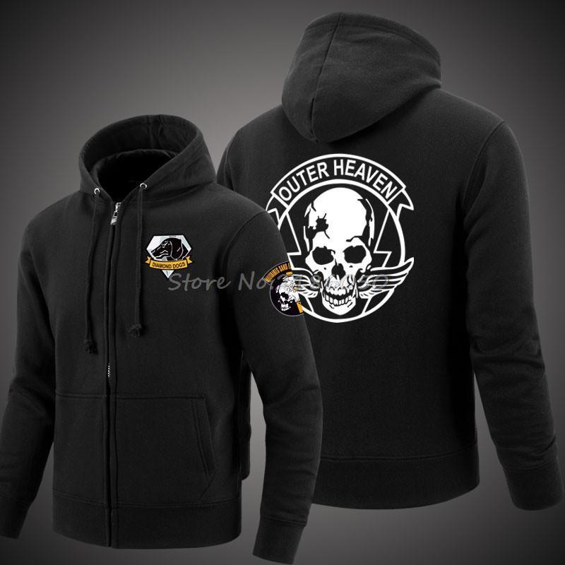 2019 Game Metal Gear Solid Dogs Outer Heaven Logo Zip Up Print Super Warm  Fleece Hoodie Men Coat Sweatshirt D18100703 From Shen07 1a60d842a