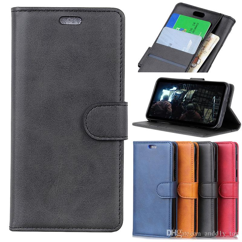 quality design 0f90a 51ab8 Phone Leather Case for Samsung Galaxy J7 A8 Plus 2018 A6 J3 Note9 Retro  Mens Wallet Case Bag Matte with Credit Card Slot