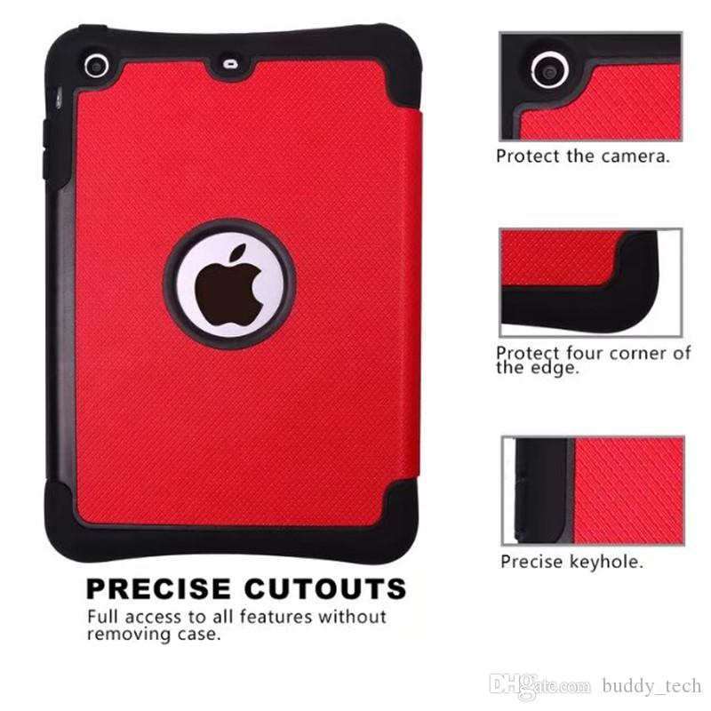 Fashion For Ipad Mini 1/2/3 Diamond cover protettiva in plastica con rivestimento in gomma glitter