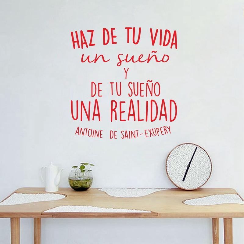 vinyl wall stickers spanish inspirational positive quotes vinyl wall
