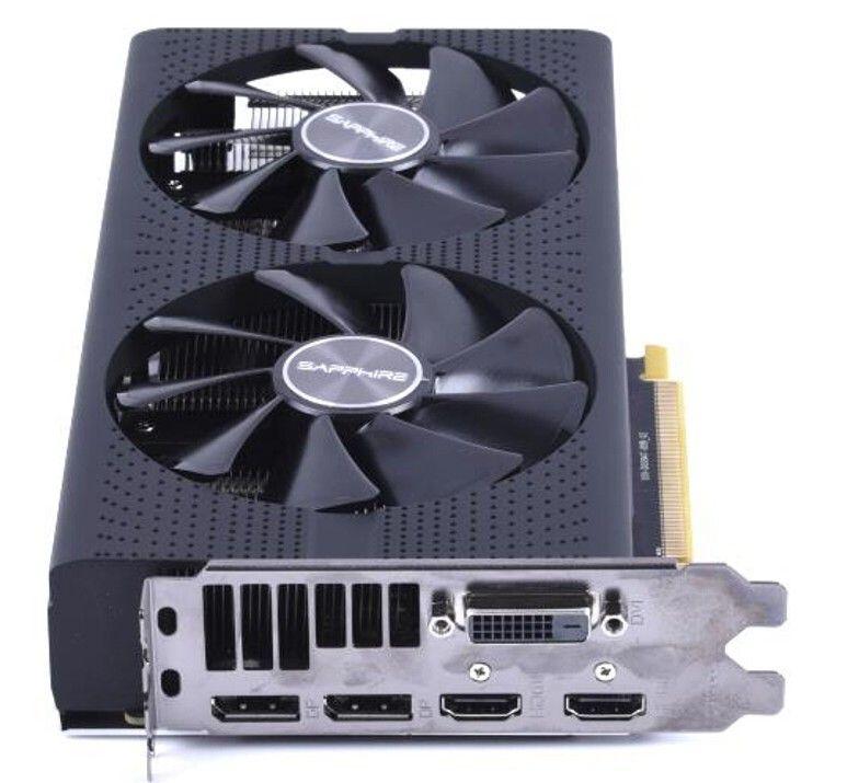 بطاقة الرسومات Sapphire rx580 بطاقة 8G D5 فائقة البلاتين OC الكمبيوتر لعبة بطاقة الرسومات LLFA مستقلة