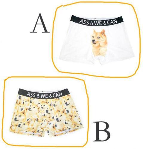 08c4fb2442 Cute Shiba Inu Doge Corgi Animal Funny Men's Underwear 3D Bulge Boxer man  Gift